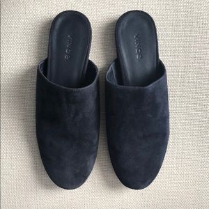 Vince navy suede slippers size 7